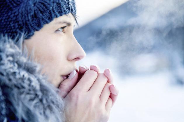 Растирание рук от холода