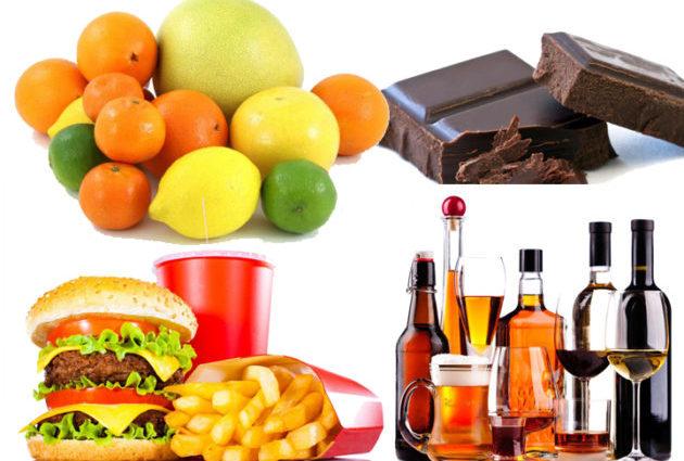 Продукты вызывают аллергическую реакцию
