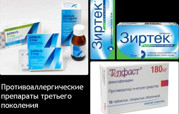Препараты от аллергии 3 поколения