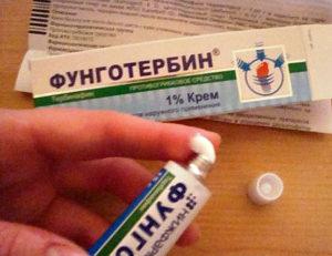 Фунготербин крем против грибка ногтей