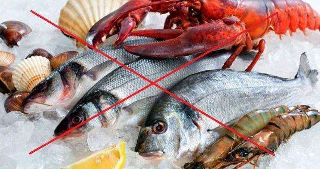 Отказ от морепродуктов
