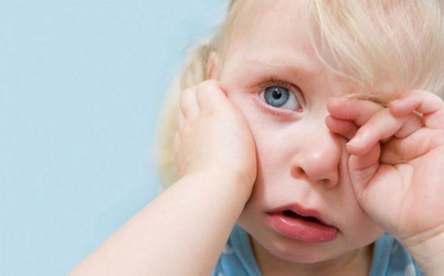 Слезоточивость глаз у ребенка