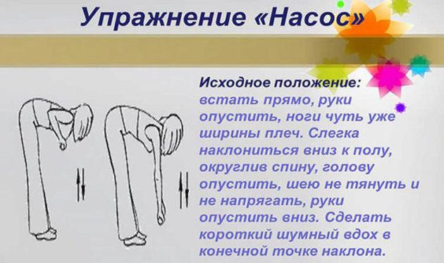 Упражнение насос