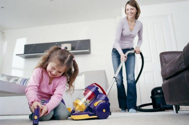 Влажная уборка в детской комнате