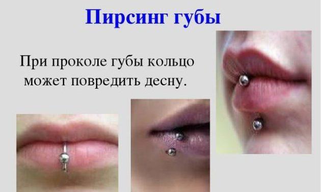 Пирсинг на губах