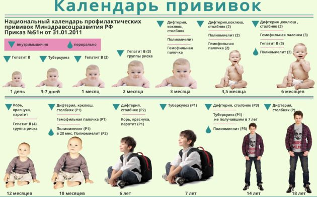 Календарь прививок для детей