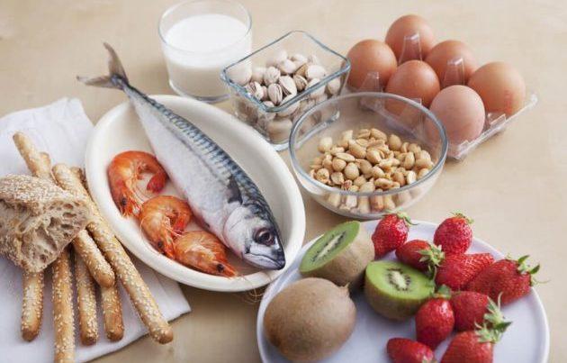 Самые распространённые пищевые аллергены